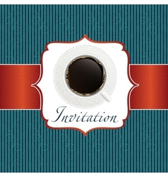 coffee invitation background vector image vector image