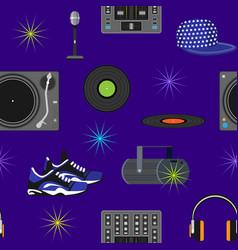 dj music discjockey playing disco on vector image vector image