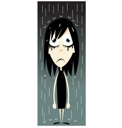 Emo Girl - Bad Day vector image