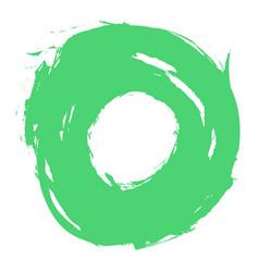 green brushstroke circle form vector image vector image
