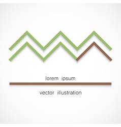 Minimalistic forest and house vector image vector image