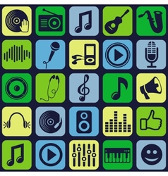 music seamless pattern vector image