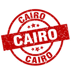 cairo red round grunge stamp vector image vector image