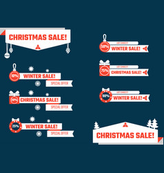 christmas lower thirds vector image