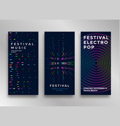 electronic music festival vector image vector image