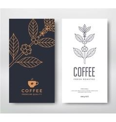 Packaging design coffee vector image