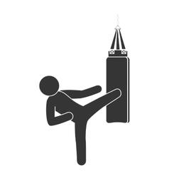 punching sack boxing vector image