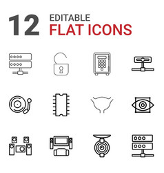 12 system icons vector