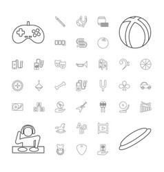 37 play icons vector