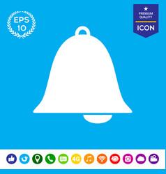Alarm bell symbol icon vector