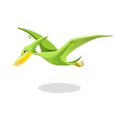 Archaeopteryx original or first bird isolated on vector image