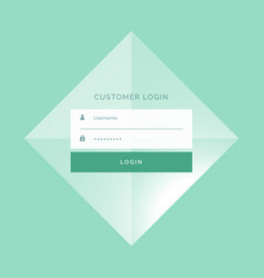 Awesome login form template design background vector