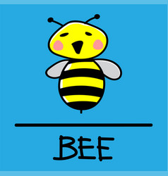bee hand-drawn style vector image