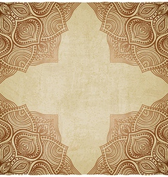 brown corner pattern old background vector image