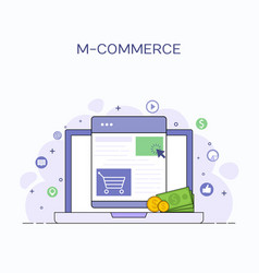 business concept for m-commerce vector image
