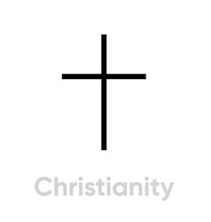 christianity religion icon editable line vector image