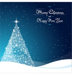 Christmas background landscape vector image
