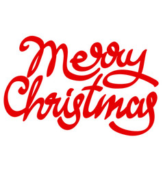 christmas calligraphy vector image