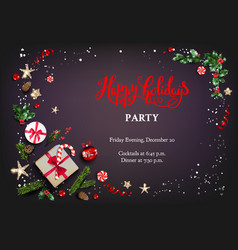 Christmas festive party vector