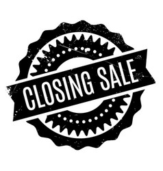 Closing sale rubber stamp vector