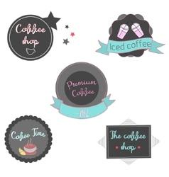 Coffee label icon vector