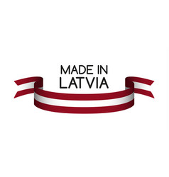 Colored ribbon with the latvian colors vector