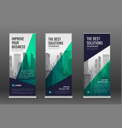 construction roll up banner design templates set vector image