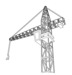 crane construction equipment industry vector image