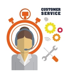 customer support service icons vector image
