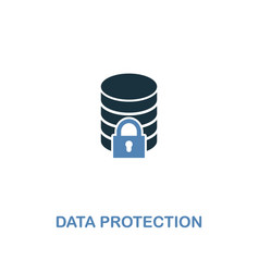 data protection icon in two colors premium design vector image