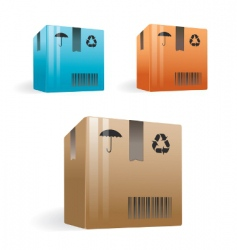 delivery boxes vector image