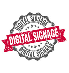 Digital signage stamp sign seal vector