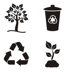 Eco and recycle icons vector
