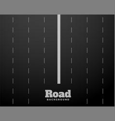 Eight lane black road highway background design vector