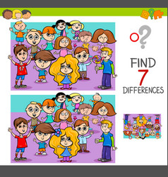 Find differences with children characters vector