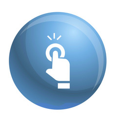 finger touch cursor icon simple style vector image