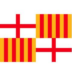 flag of barcelona in spain vector image