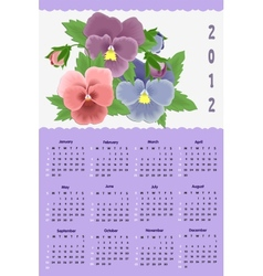 Flower calendar for 2012 vector image