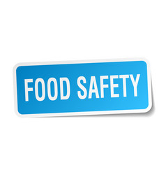 Food safety square sticker on white vector