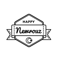 Happy Nowruz Day greeting emblem vector image