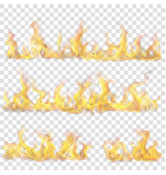 horizontal fire flame for light background vector image