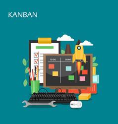 Kanban concept flat style design vector