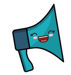 Kawaii megaphone icon vector
