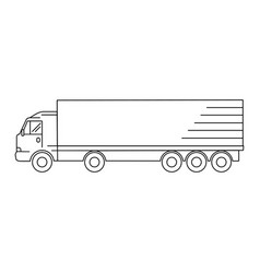 line art transport icon vector image