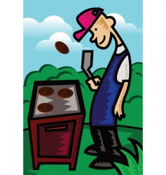 man grill vector image