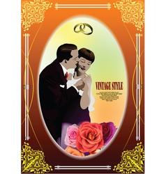 Marriage card vector