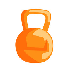 metal sports kettlebell equipment sports training vector image