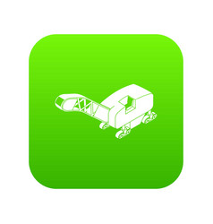 Mine band tractor icon green vector