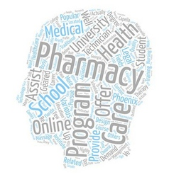 Pharmacy Schools The Short List text background vector image