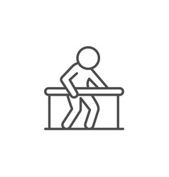 physical therapy line outline icon vector image